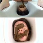 BFHD-68 Lesbian scat human toilet.