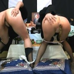 LQBK-0587 Mother and daughter on scat memorial service. (HD720p)