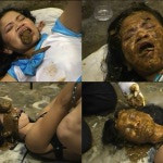 Shit on face and eat feces thai girl.