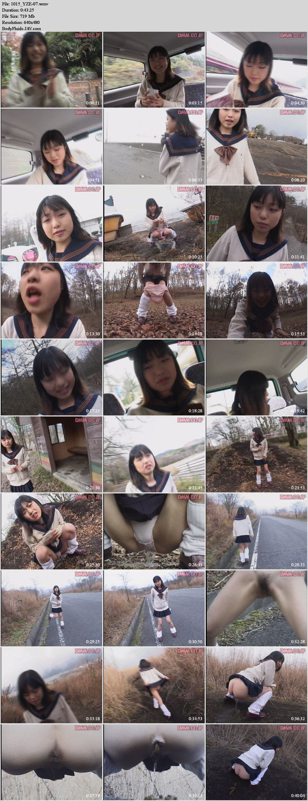 YZE-07 Schoolgirl Anna Kuramoto excretion on outdoor.