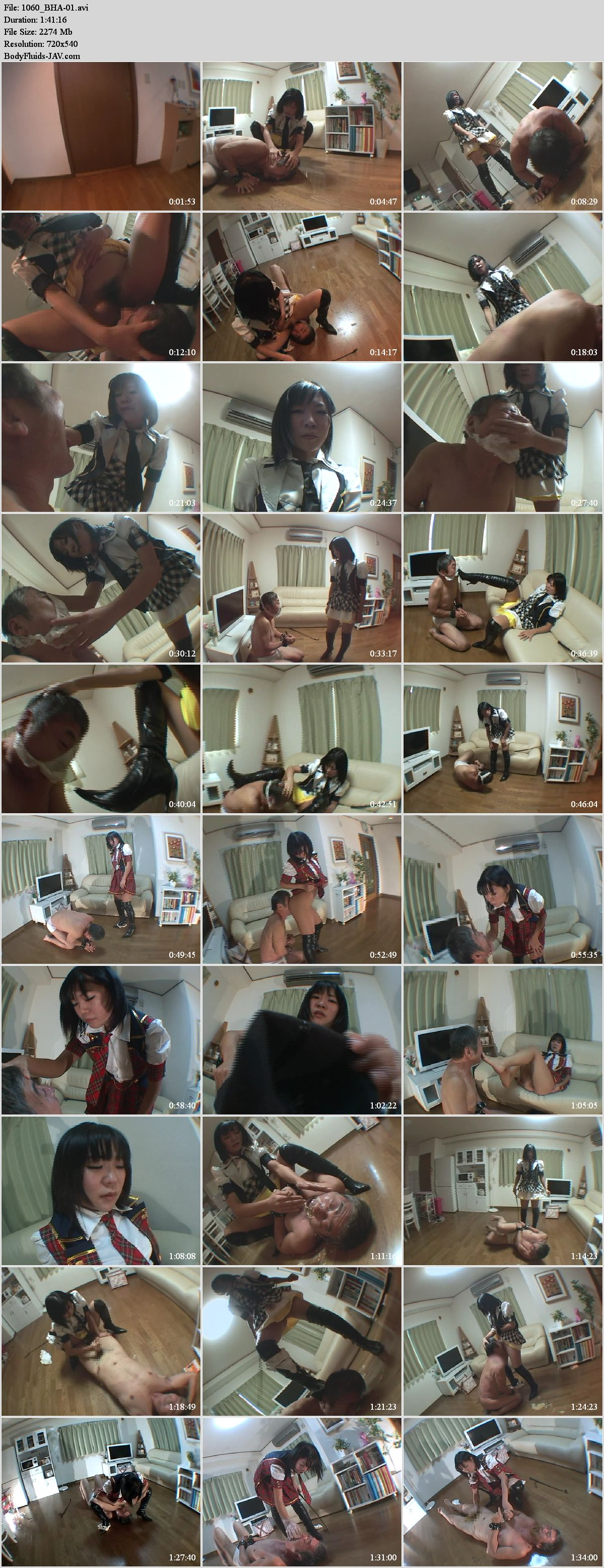 BHA-01 Mistress in boots shitting on face slave.