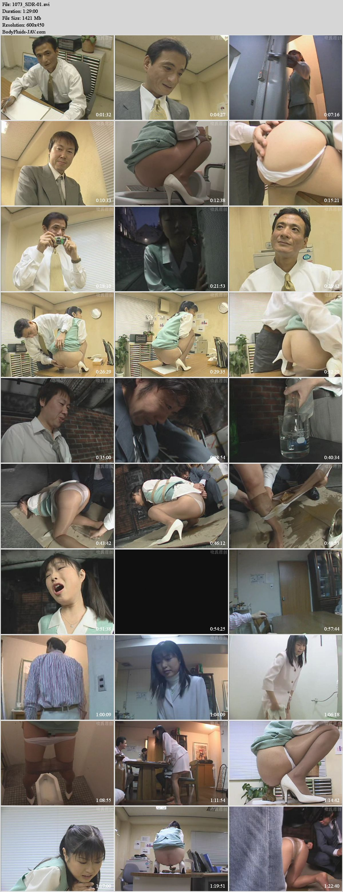 SDR-01 Chief of a weirdo, forcing Anna Kuramoto enema and defecation.
