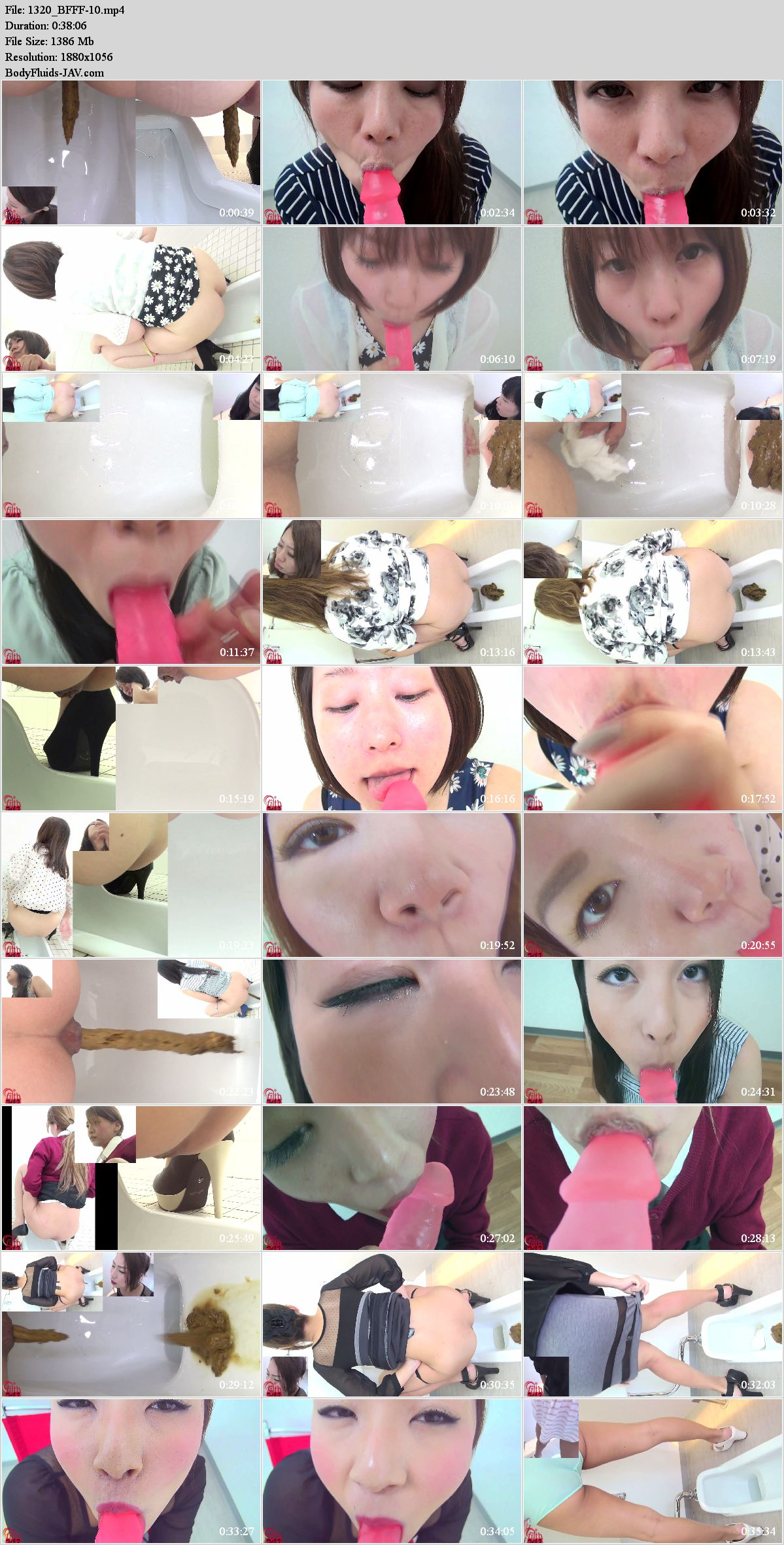 BFFF-10 Women suck dildo in toilet after defecation. (HD 1080p)