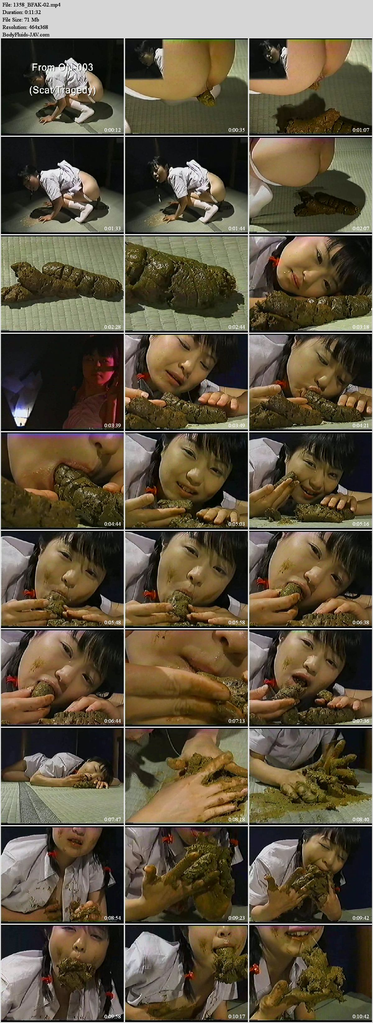 BFAK-02 Anna Kuramoto defecation and puking after eats feces.