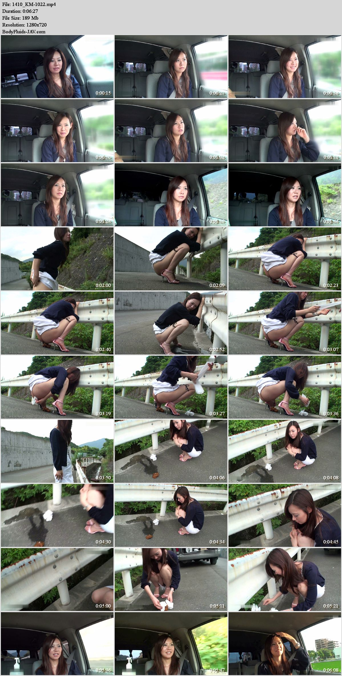 KM-1022 Field feces Fukasawa Anna amateur poop. (HD 720p)