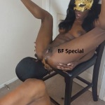 [Special #188] Ebony mistress shitting in mouth slave. (HD 1080p)