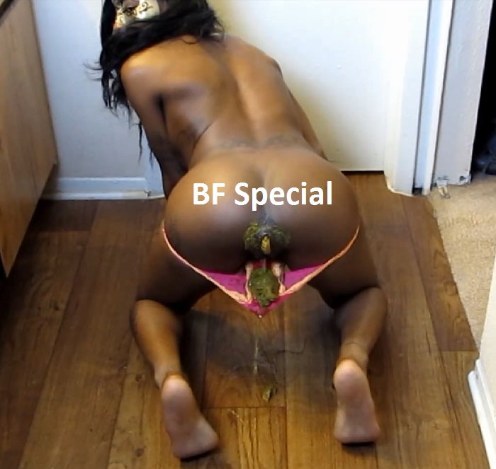Black girls shitting