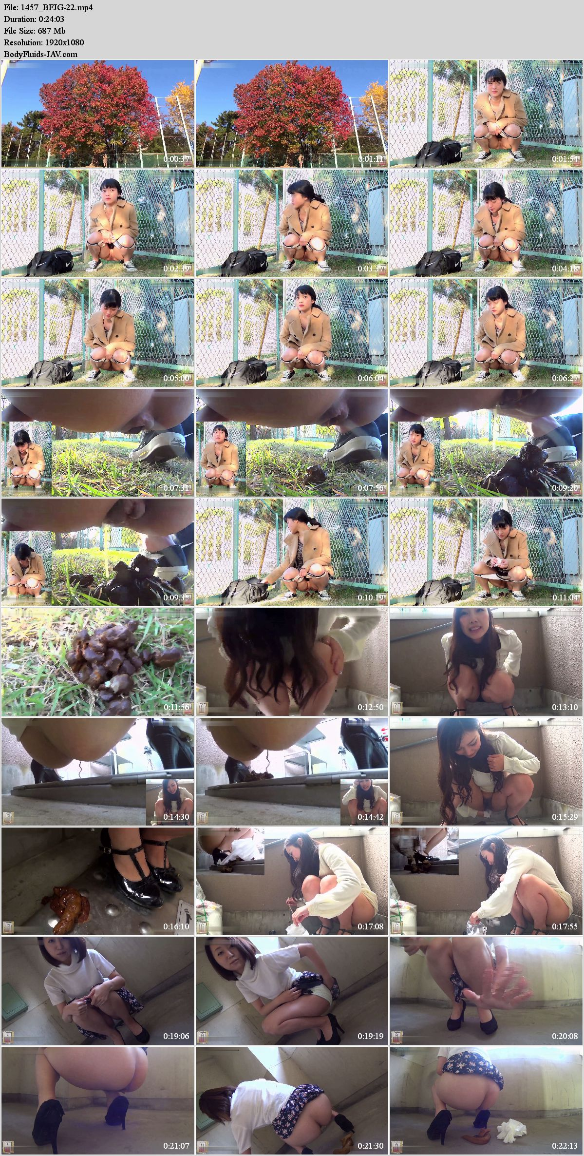 BFJG-22 Girls were filming their own defecation in public places. (HD 1080p)
