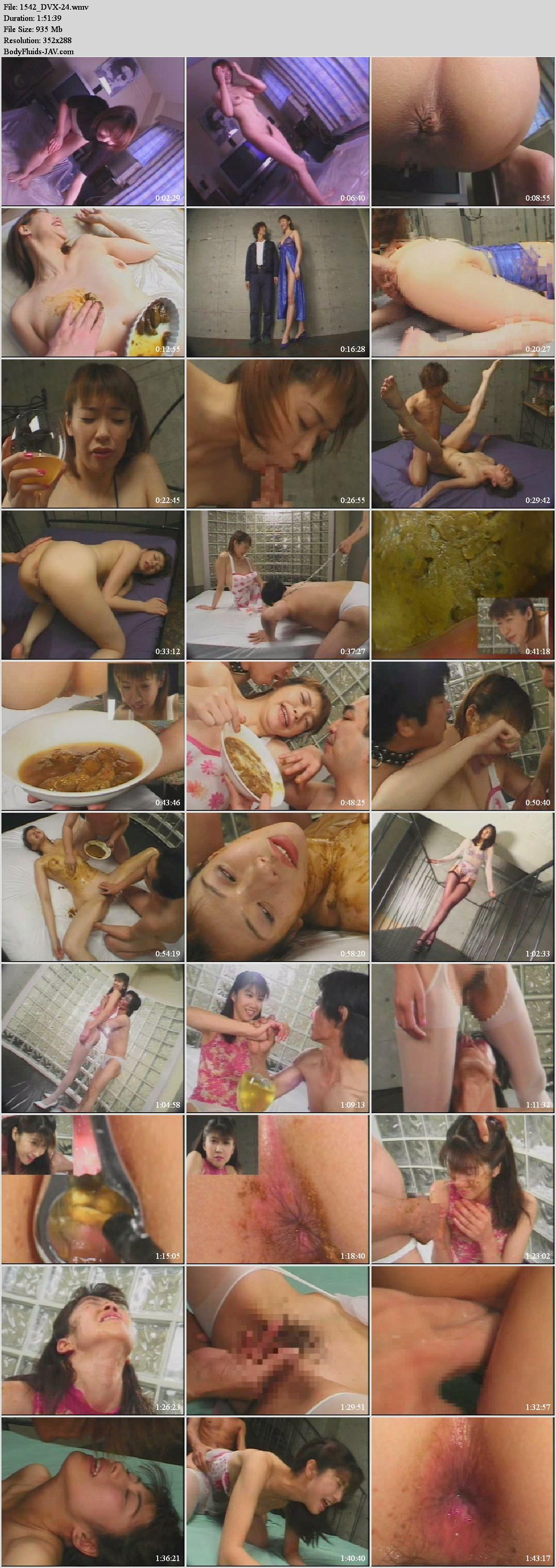 DVX-24 Kitagawa Yumika and Kuroda Makoto covered with feces and coprophagy sex.