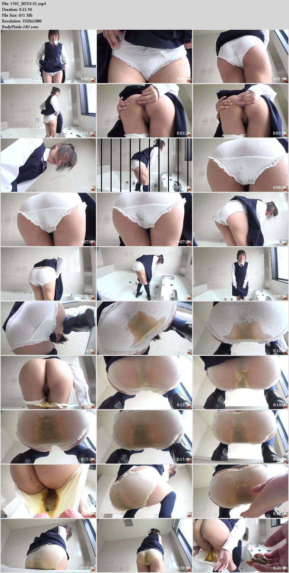 BFJG-31 Young girl panty pooping in bathroom. (HD 1080p)
