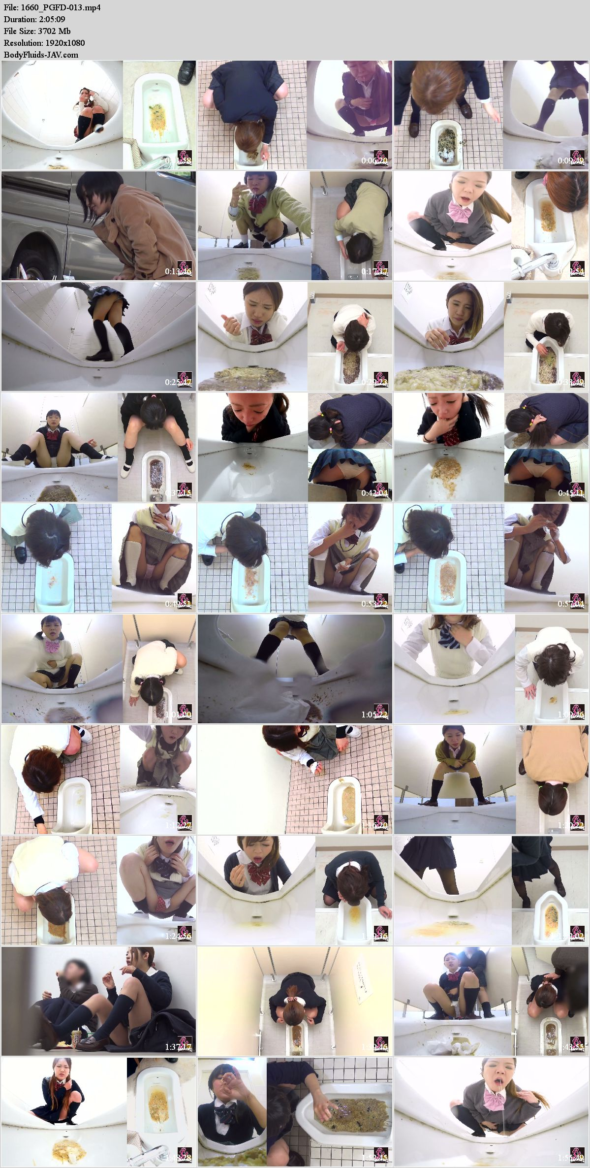 PGFD-013 Puking schoolgirls in toilet after food poisoning. (HD 1080p)