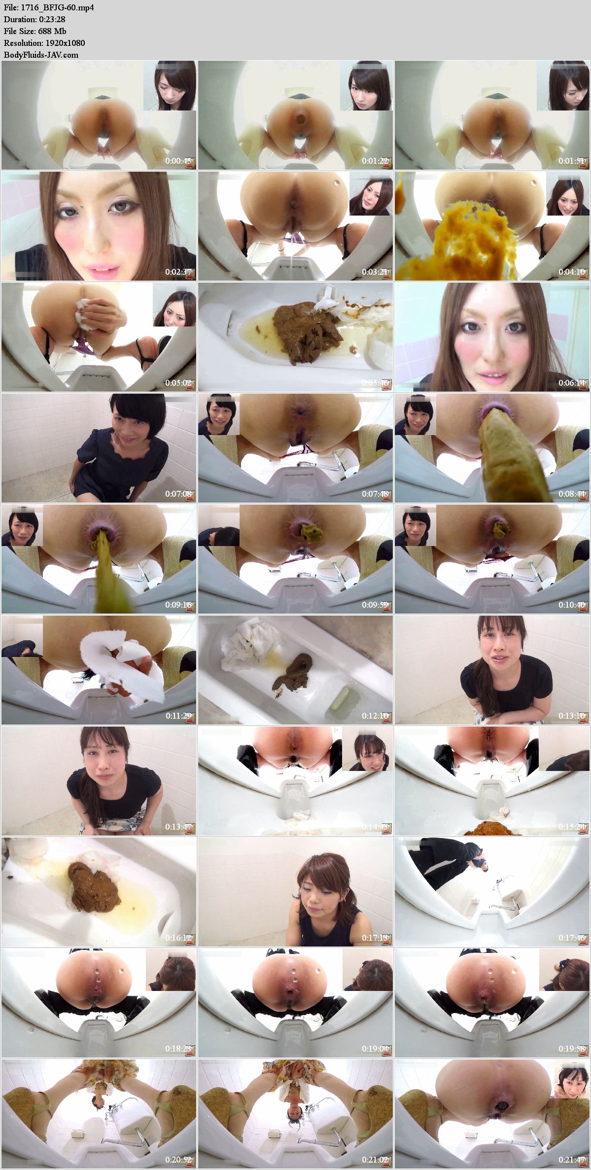 BFJG-60 Girls self filmed defecation in public toilet. (HD 1080p)
