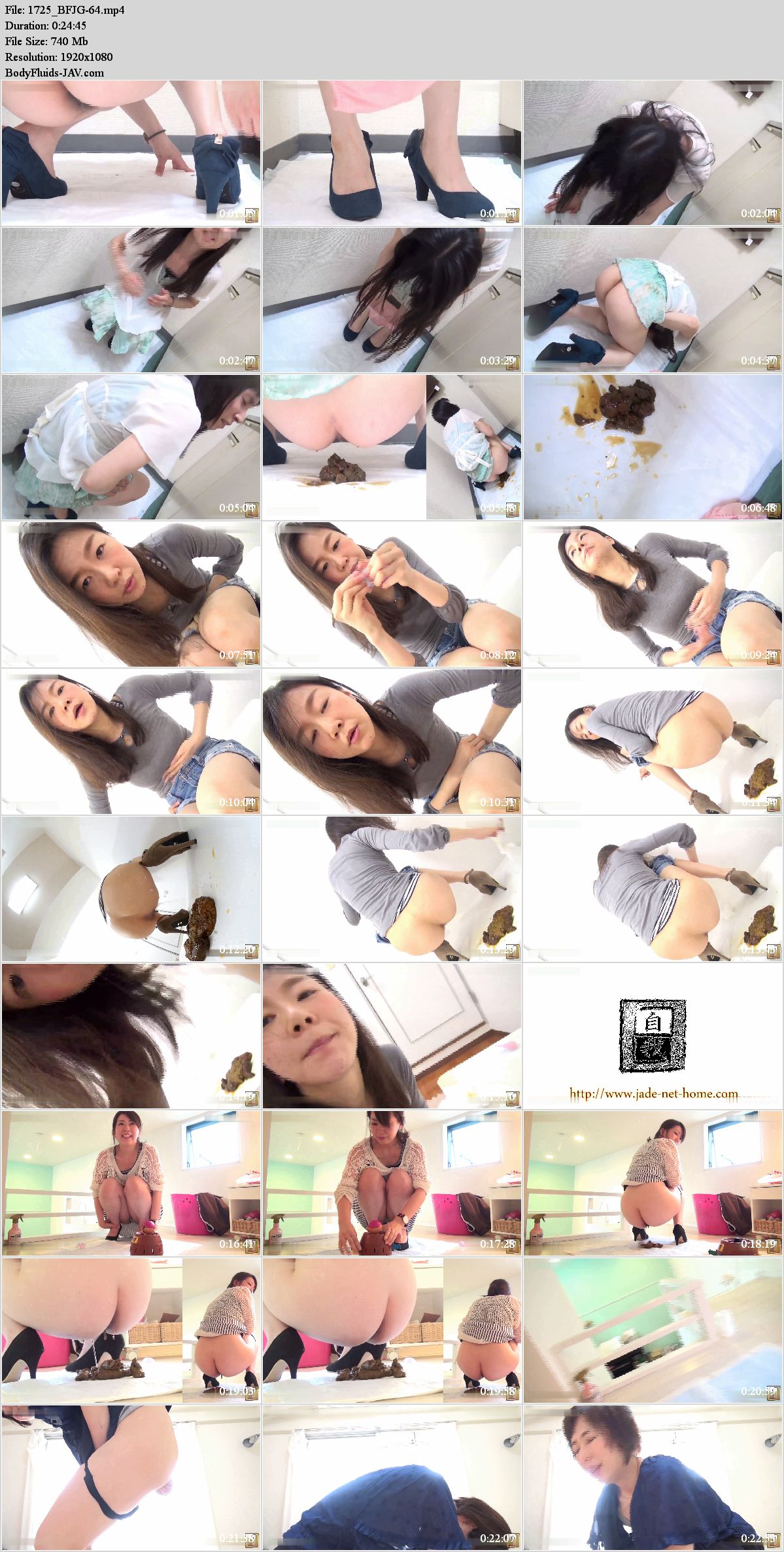 BFJG-64 Powerful defecation after enema. (HD 1080p)
