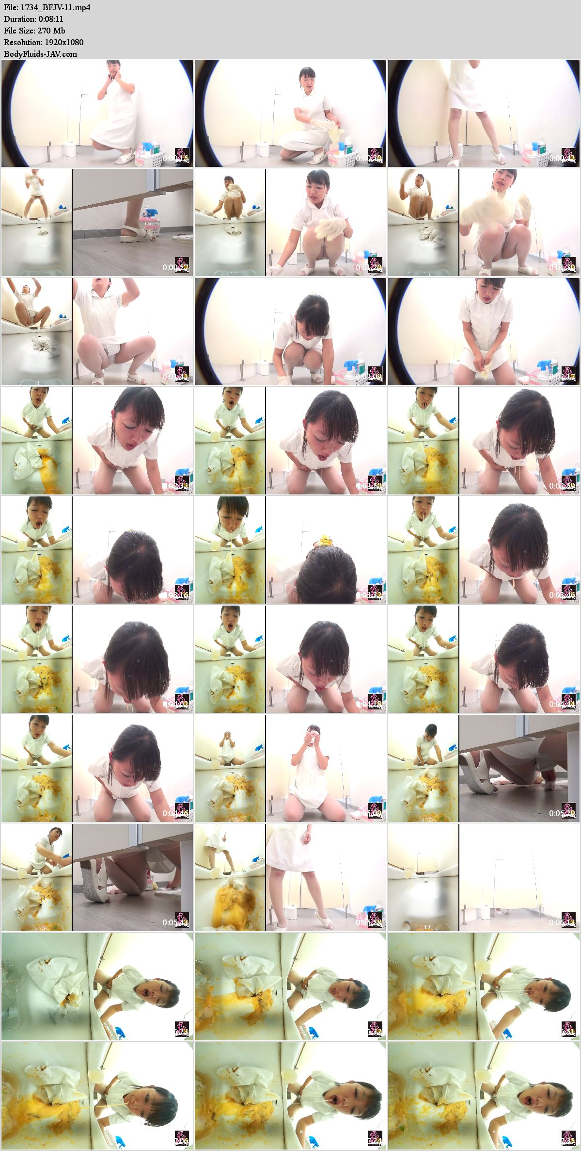 BFJV-11 Girl puke in toilet after food poisoning. (HD 1080p)