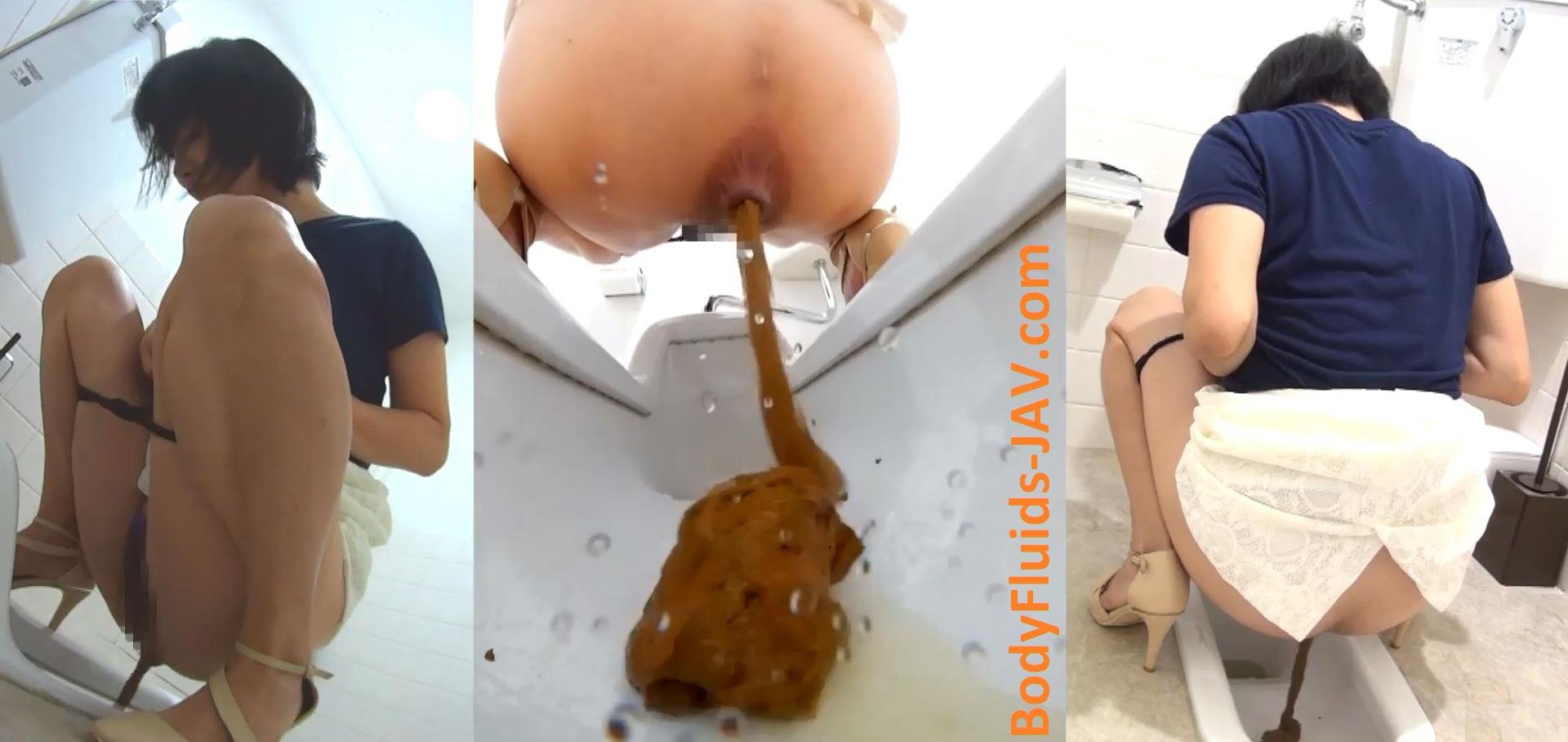 BFFF-86 Interview with girls after pooping in public toilet. (HD 1080p)