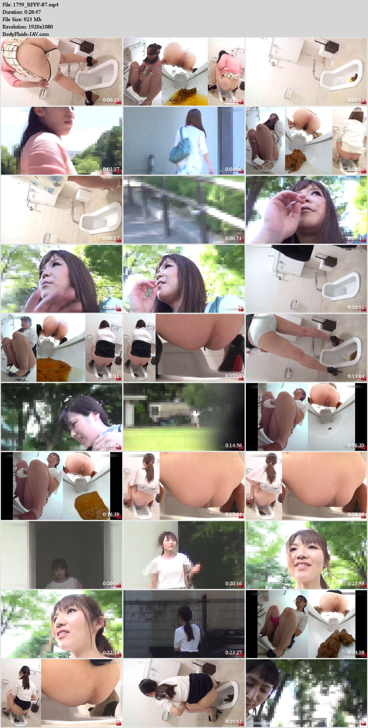BFFF-87 Shame girls after defecation in public toilet. (HD 1080p)
