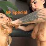 [Special #462] Hand in shit deep in mouth lezdom scat play. (HD 1080p)
