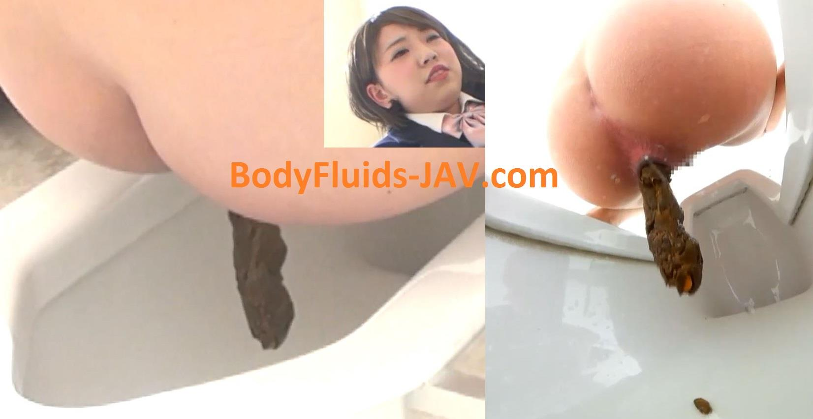 BFEE-40 Girl student does pooping and diarrhea in toilet. (HD 1080p)
