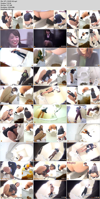 EE-162 Obscene defecation in public toilet voyeur. (HD 1080p)