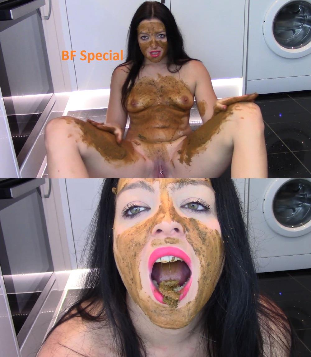 [Special #669] Evamarie88 big shit smear on body and chew feces. (HD 1080p)