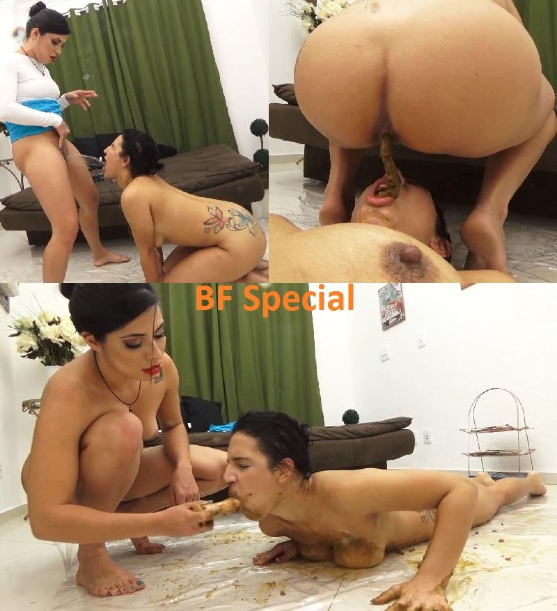 [Special #696] Humiliation a slavegirl for first time by shit. (HD 1080p)