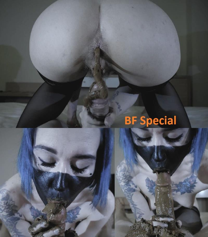 [Special #699] DirtyBetty done truly fithy handjob and blowjob with shit. (HD 1080p)