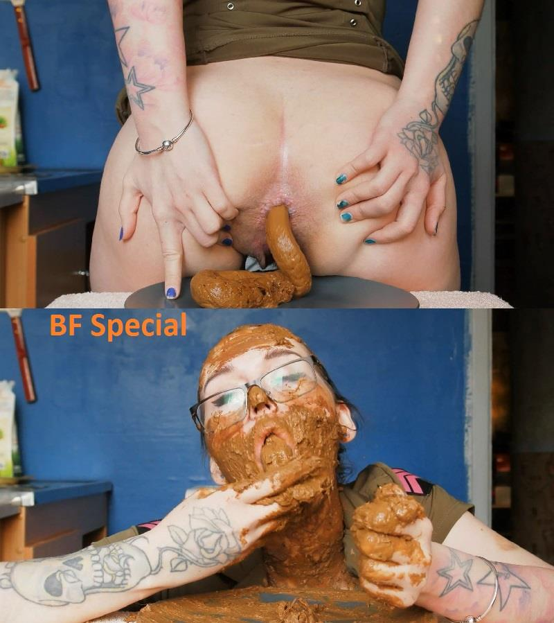 [Special #717] DirtyBetty full face and mouth of shit. (HD 1080p)