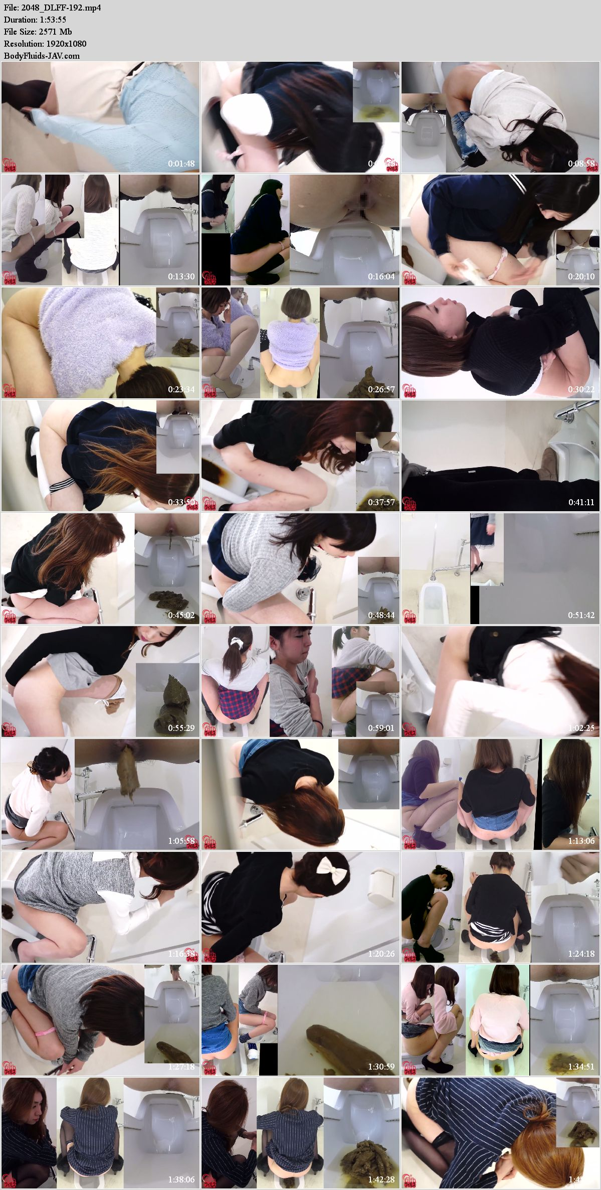 FF-192 Girls saw camera and shy during defecation. (HD 1080p)