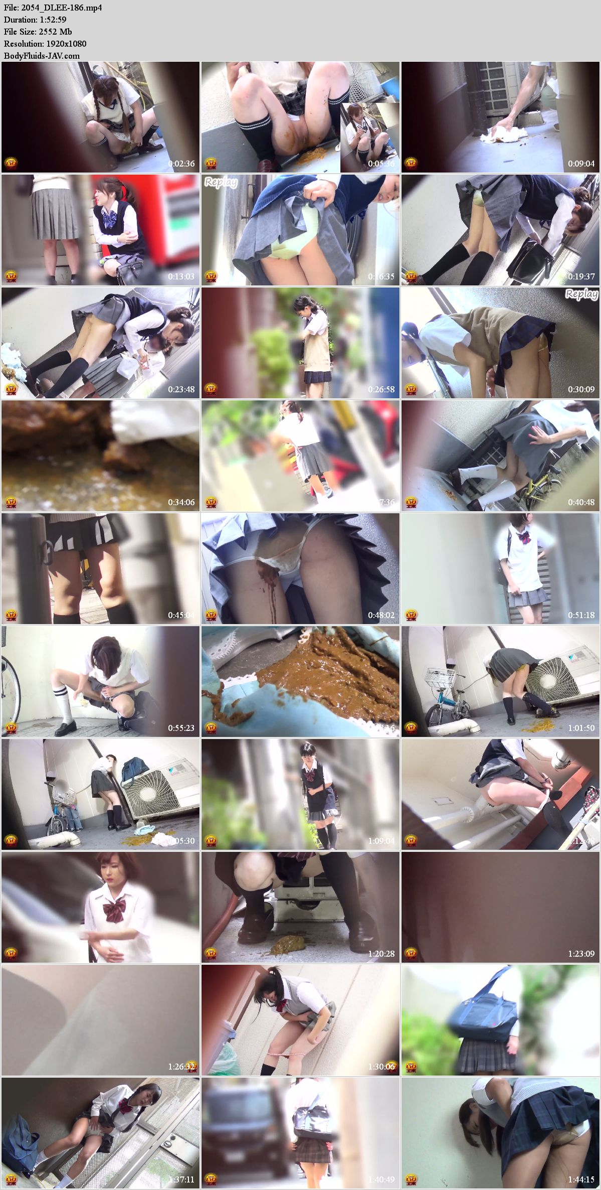 EE-186 Pantypoop accident in schoolgirls on back alley. (HD 1080p)