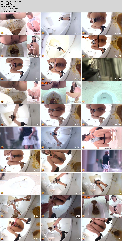 EE-180 Powerfull diarrhea in girls in public toilet. (HD 1080p)