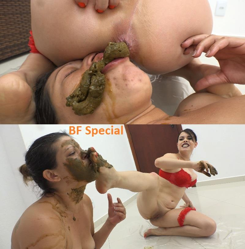 [Special #746] Big shit pile in mouth and smear on face. (UHD 4K)