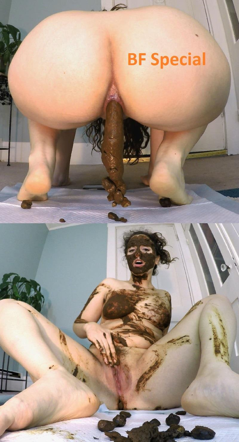 [Special #759] Mask from stinky shit! LoveRachelle2 eats shit and smearing feces on body. (UHD 4K)