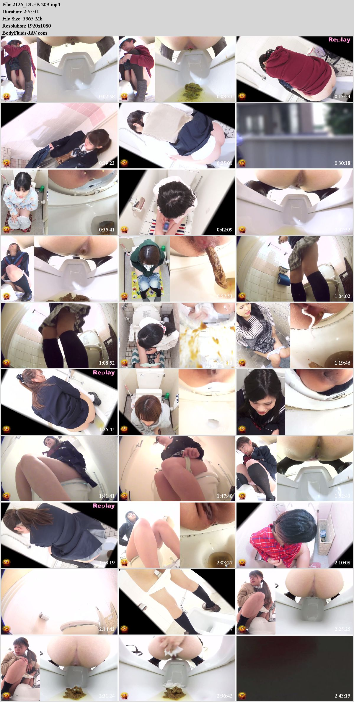 EE-209 Spy camera in toilet younger sisters pooping. (HD 1080p)