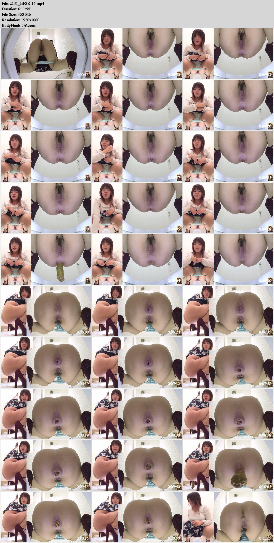 BFSR-16 Long pooping feces in girl in toilet. (HD 1080p)