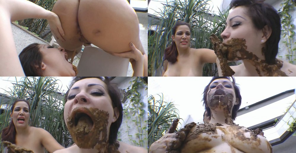 Face shitting scat and shit eating photo
